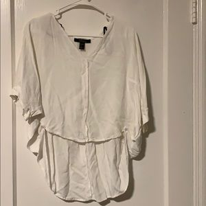 Forever 21, high low white top, size small